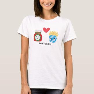 T-shirt Ketchup et fritures (personnalisables)
