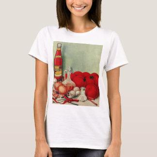 T-shirt Ketchup italien vintage de poivrons d'oignons de