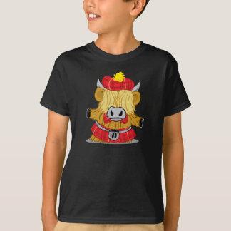 T-shirt Kilt des montagnes de rouge de vache
