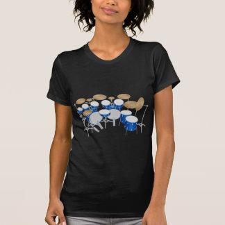 T-shirt Kit de tambour de 10 morceaux : Dessin de vecteur