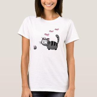 T-shirt Kitty et amour de Mousie