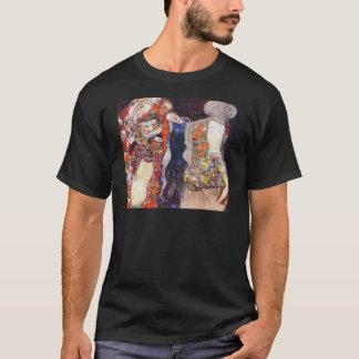 T-shirt Klimt ornent la jeune mariée avec le voile et la