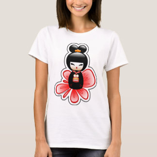T-shirt kokeshi-mickey-sfondo-t
