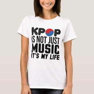 T-shirt Kpop est mes graphiques de slogan de musique de la