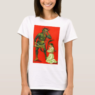 T-shirt Krampus punissant une mauvaise fille
