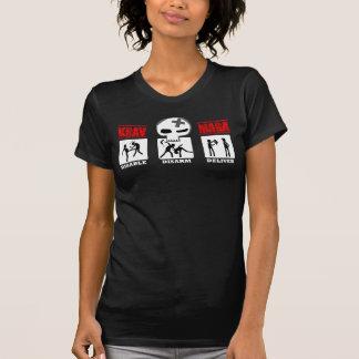 T-shirt Krav Maga - icônes de WMs- 3D petites