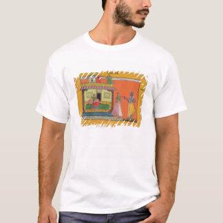 T-shirt Krishna arrivant à la maison de Radha,