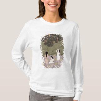 T-shirt Krishna avec les vêtements des filles de vache,