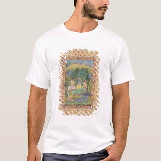 T-shirt Krishna et le Gopis (gouache sur le papier)