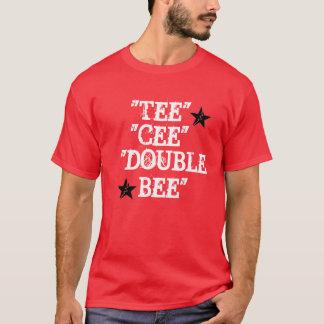 T-shirt La bande T rouge de ruisseaux de Candace