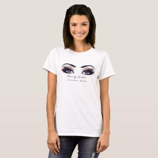 T-shirt La beauté de maquilleur fouette l'oeil de corail