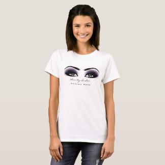 T-shirt La beauté de maquilleur fouette l'oeil gris