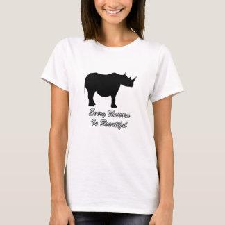 T-shirt La beauté n'est pas mesurée en poids