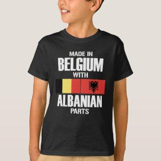 T-shirt La Belgique avec les PIÈCES albanaises