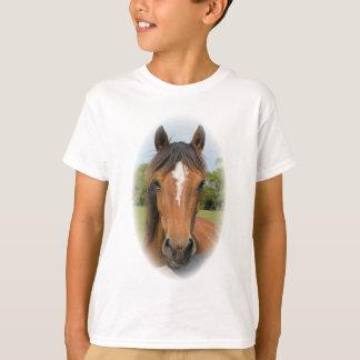 T-shirt La belle photo de châtaigne de tête de cheval