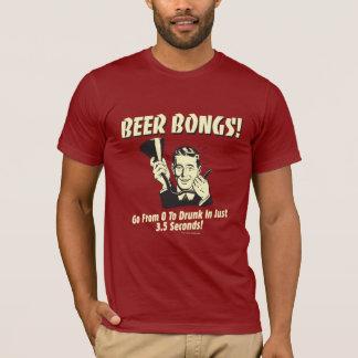 T-shirt La bière Bongs : Allez de 0 à ivre dans 3,5