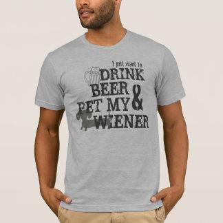 T-shirt La bière de boissons et choient ma chemise de