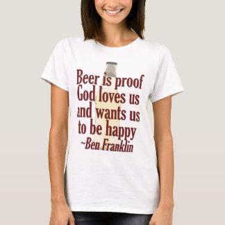 T-shirt La bière est preuve