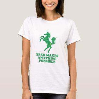 T-shirt La bière rend n'importe quoi possible