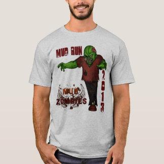 T-shirt La boue courent 2013 zombis de boue d'équipe
