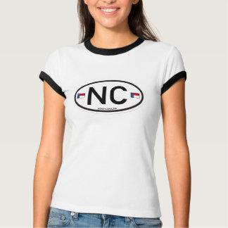 T-shirt La Caroline du Nord Euro-Ovale
