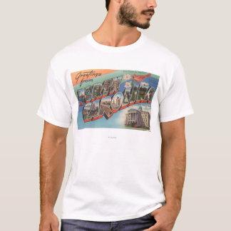 T-shirt La Caroline du Nord (fleur d'état/oiseau)
