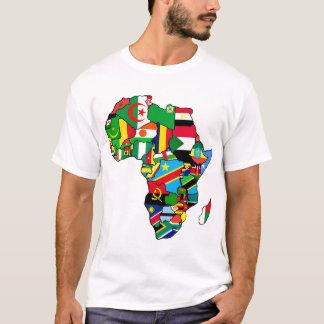 T-shirt La carte africaine des drapeaux de l'Afrique dans