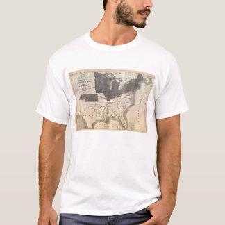 T-shirt La carte connue la plus tôt du Confederacy