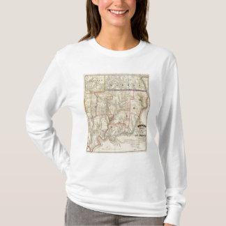 T-shirt La carte de Howe du secteur d'huile de la