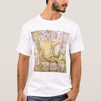 T-shirt La carte de l'itinéraire a suivi de Hernando