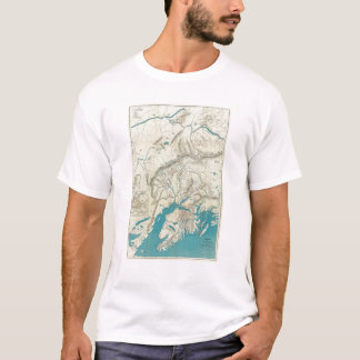 T-shirt La carte de Sleem de l'Alaska central