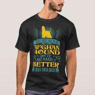 T-shirt La chemise a le chien de lévrier afghan meilleur