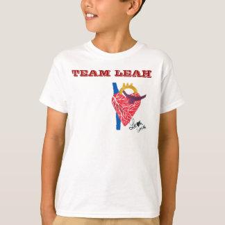 T-shirt La chemise blanche de l'enfant de Leah d'équipe