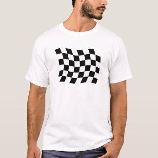 T-shirt La chemise Checkered de drapeau