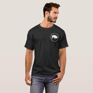 T-shirt La chemise de Buffalo des hommes blancs dehors