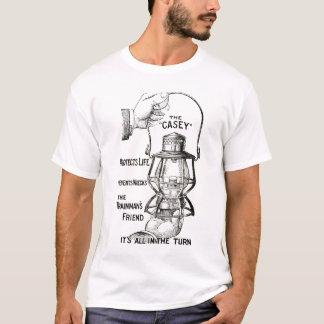 T-shirt La chemise de conception de noir de lanterne de