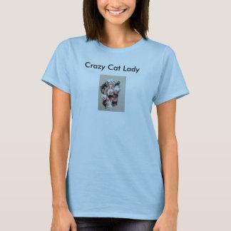 T-shirt La chemise de délivrance de chat, dame folle de
