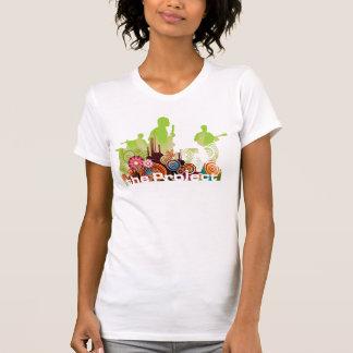 T-shirt La chemise de filles de projet avec des remous et
