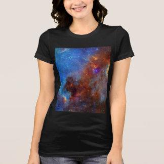 T-shirt La chemise de galaxie des femmes cosmiques de