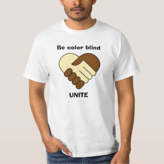 T-shirt La chemise de l'anti de racisme homme de thème