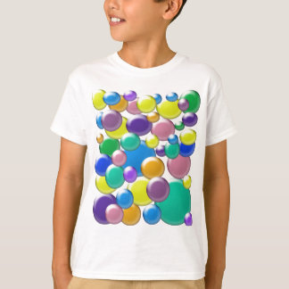 T-shirt La chemise de l'enfant coloré de bulles