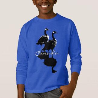 T-shirt La chemise de l'enfant d'oies du Canada de