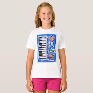 """T-shirt La """"chemise de piano"""" pour des filles par Neil"""