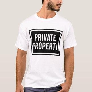 T-shirt La chemise de propriété privée des hommes noirs et