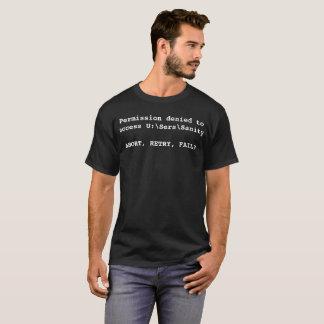T-shirt La chemise d'erreurs de santé d'esprit d'U:\Ser