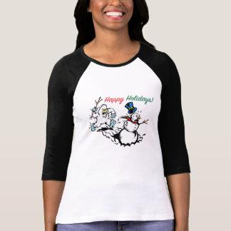 T-shirt La chemise des femmes de chasse de bonhomme de