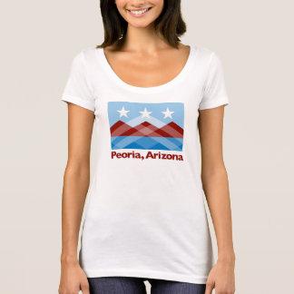T-shirt La chemise des femmes de cou de scoop de drapeau