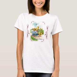 T-shirt La chemise des femmes de Pâques de chariot de