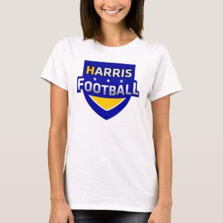 T-shirt La chemise des femmes standard de logo du football