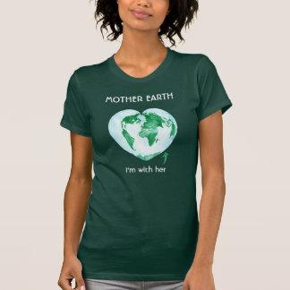 T-shirt La chemise des femmes vertes d'écologiste de mars
